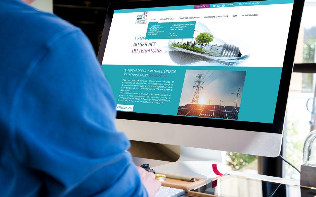 Nouveau site internet pour le SDEF