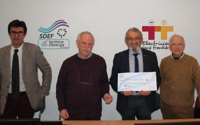 15 000 euros versés à Électriciens Sans Frontières.