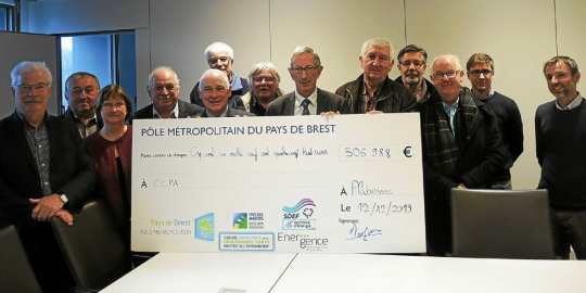 Remise de chèque CEE TEPcv pour les communes de la CCPI et de la CCPA