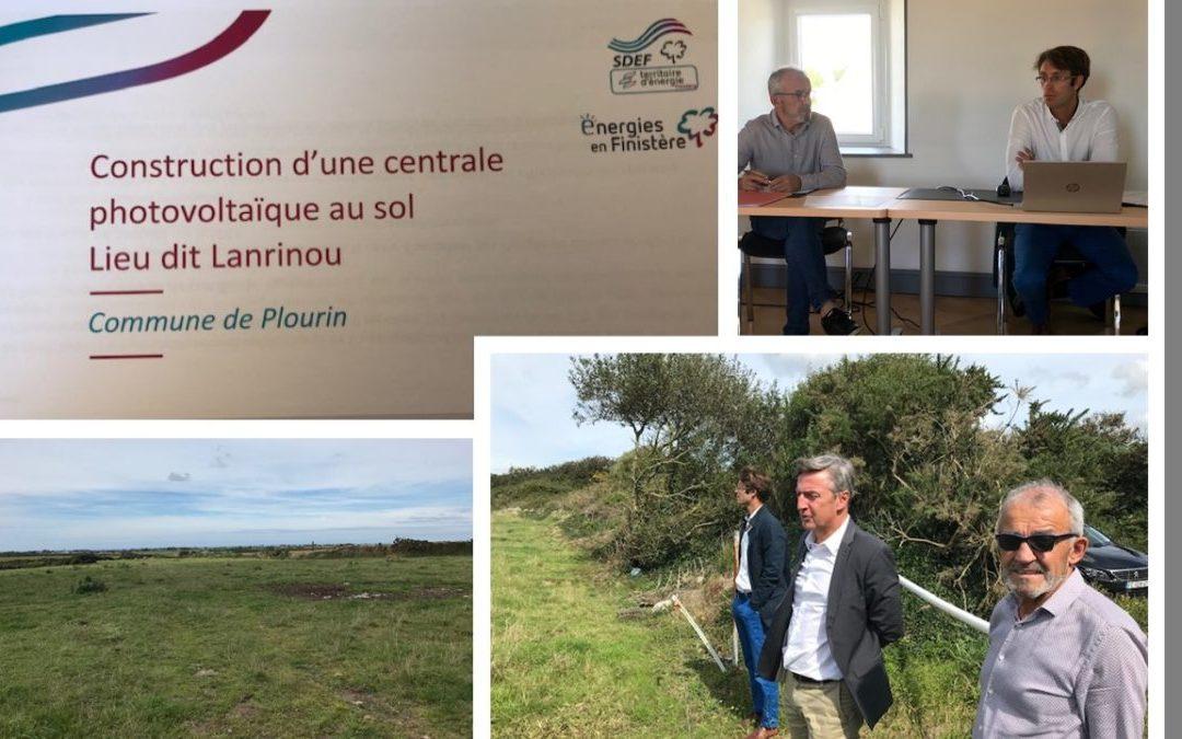 Présentation du projet de création de la centrale photovoltaïque de Plourin au  député Didier Le Gac