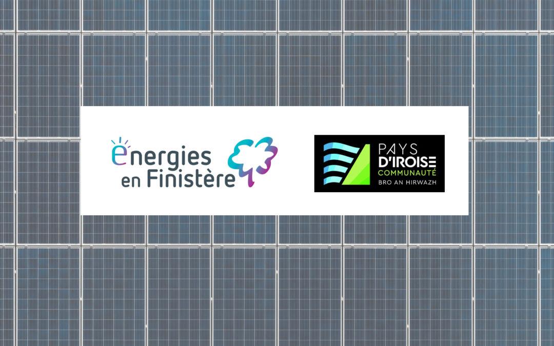 Energies en Finistère et la Communauté de Communes du Pays d'Iroise créent la SAS Pays d'Iroise Energie Solaire