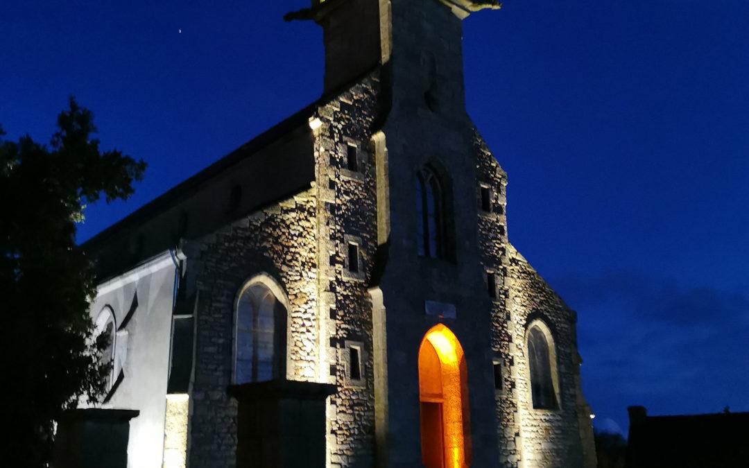 Mise en lumière de l'église de Saint-Thurien