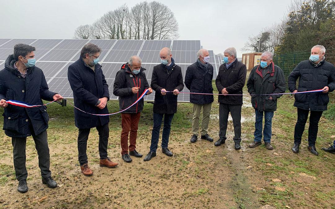 inauguration de la centrale photovoltaïque au sol de Plogonnec