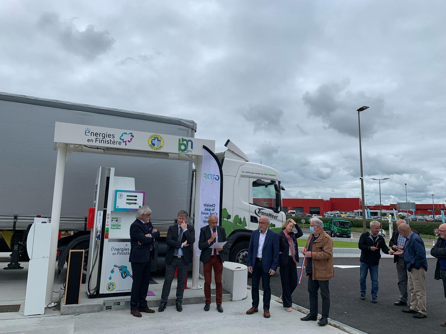 Inauguration station bio GNV Saint-Martin des champs morlaix