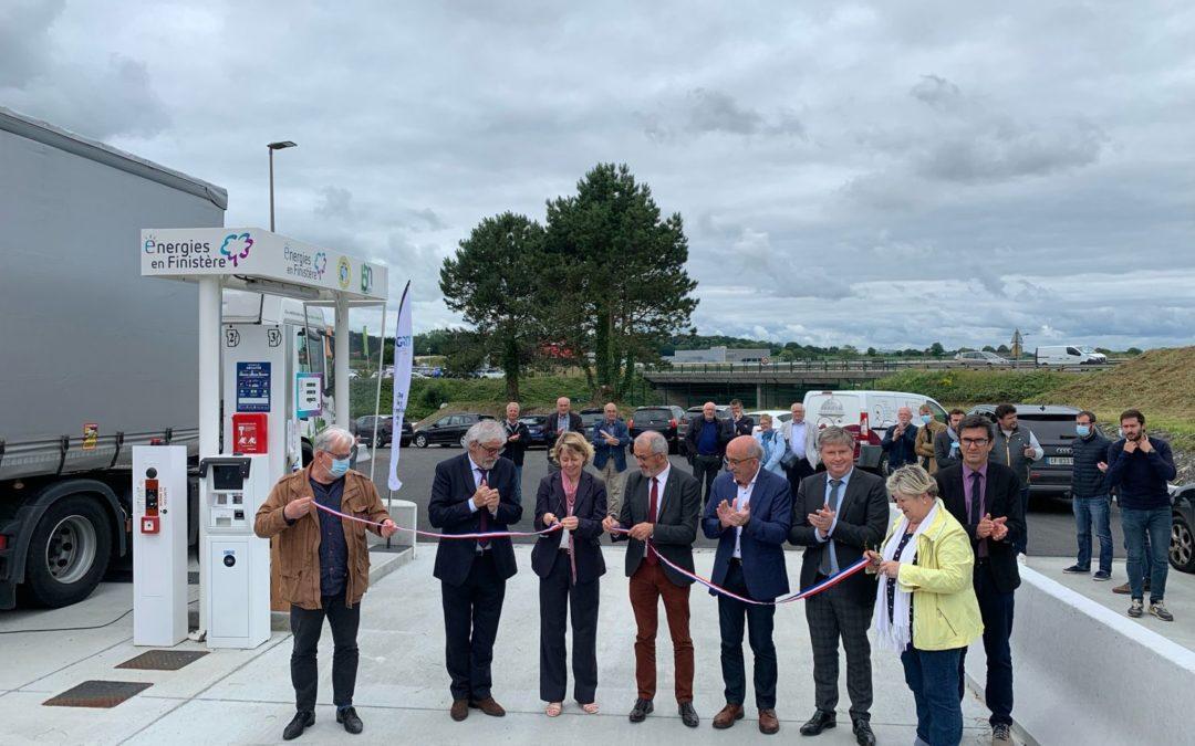 La première station BIO GNV d'énergies en Finistère inaugurée